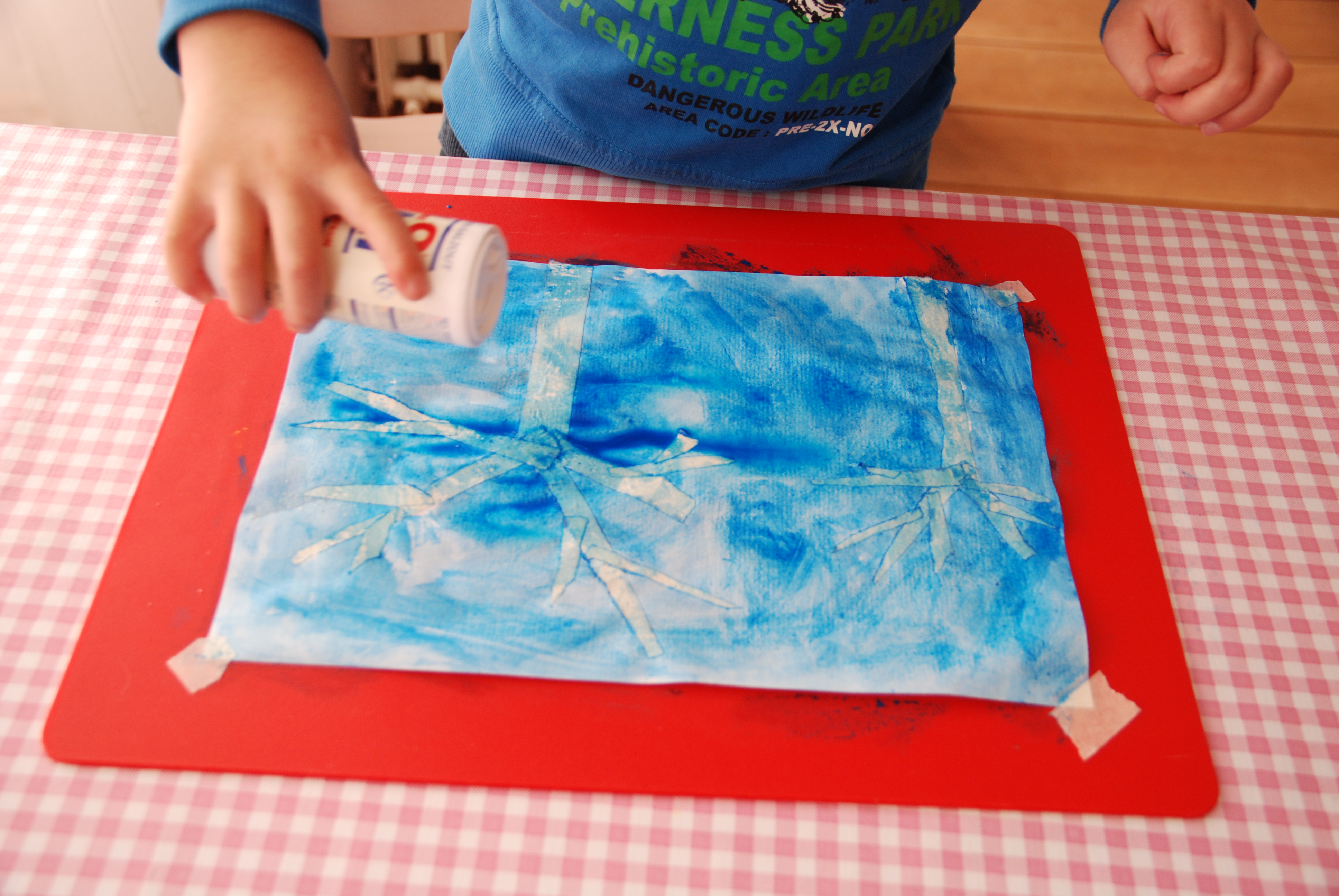 How to make Salt Snowflake Watercolor Art | The Art of Home Education