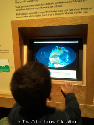 Denver Museum of Nature & Science. Changing of the earth's appea