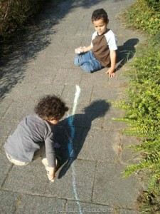 Playing outside, together