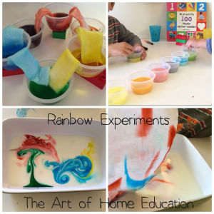 Rainbow Experiments on http://theartofhomeeduction.com