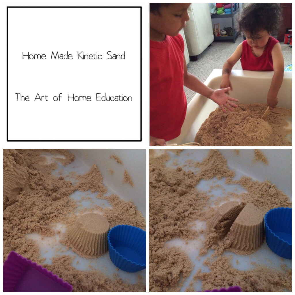 home made kinetic sand the art of home education. Black Bedroom Furniture Sets. Home Design Ideas