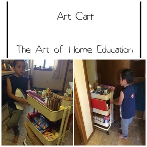Make your own Art Cart - https://theartofhomeeducation.com